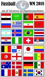 Wm 2018 Flaggen : sticker alle flaggen der wm teilnehmer 2018 ~ Kayakingforconservation.com Haus und Dekorationen