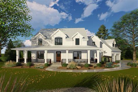 2 farmhouse plans modern farmhouse with angled 3 car garage 62668dj 2nd