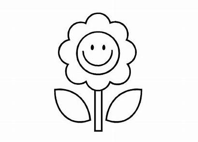 Coloring Flower Pages Cartoon Flowers Colouring Sheets