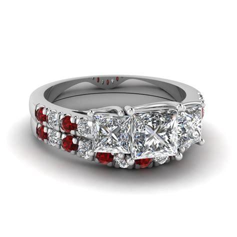 designs of ruby wedding ring sets fascinating diamonds