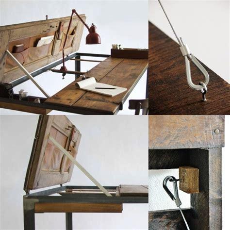 fabriquer bureau bois meuble bureau industriel et bureau mural diy en 63 idées