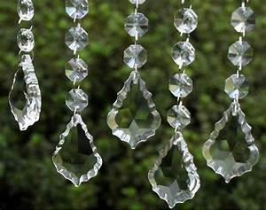 Pcs clear crystal maple leaf prisms wedding garland