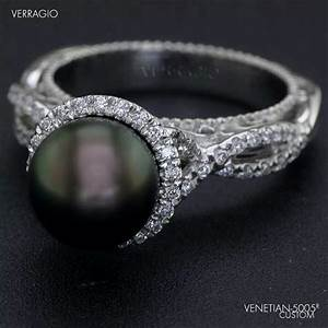 Black pearl engagement ring my style pinterest pearl for Black pearl wedding rings
