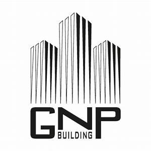 GNP building BW logo vector free