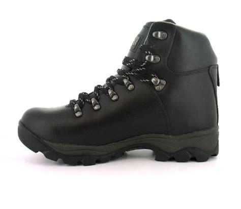 mens gents brown karrimor leather waterproof walking boots brown uk 7 12