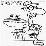 Tourist Coloring Pages Colorings Lady sketch template