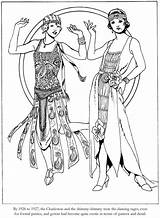 Coloring 1920s Roaring Dover Twenties Publications Fashions Welcome Adult Deco Colouring Sheets Flapper 20s Doverpublications Printable 1920 Adults Ladies Embroidery sketch template
