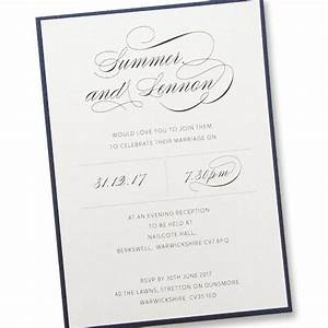 adriana evening pure invitation wedding invites With wedding invitations for the evening