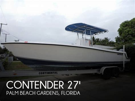Contender Boats Dual Console by For Sale Used 2005 Contender 27 Center Console In Palm