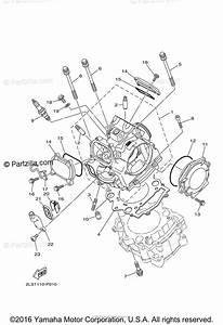 Yamaha Atv 2016 Oem Parts Diagram For Cylinder Head