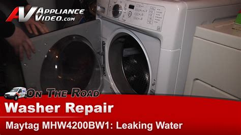 maytag washer leaking from bottom of tub maytag mhw4200bw1 washer leaking water appliance