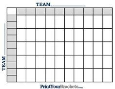 Www Free Office Football Pool by 50 Squares Nfl Football Pool Printable Template