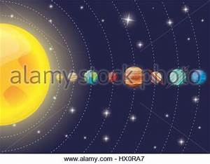 Diagram of solar system Stock Alamy