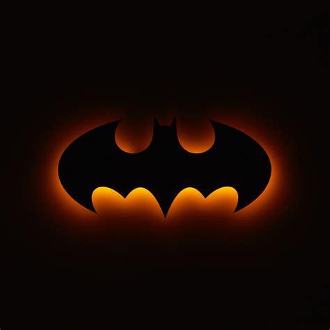 batman logo floating metal wall led backlit 30 quot w quot h 1 quot d metals touch