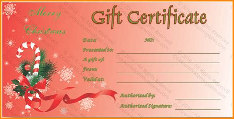 christmas gift certificate template free download best