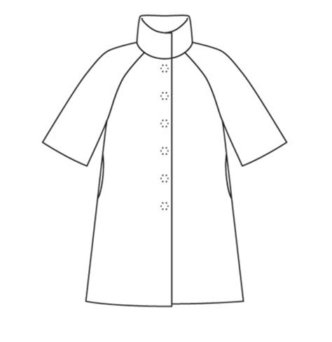 Coat Template by Image Gallery Coat Template
