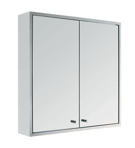 stainless steel double door wall mount bathroom cabinet
