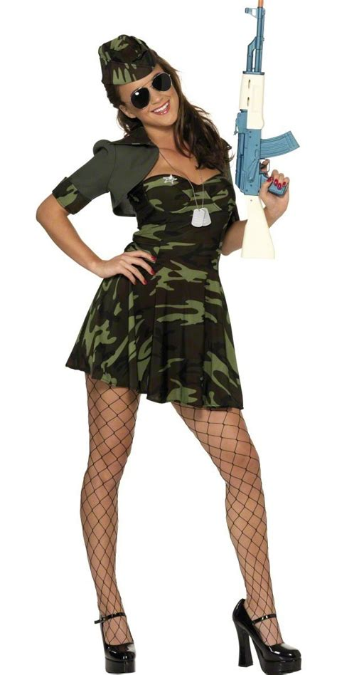 adult military babe costume  fancy dress ball