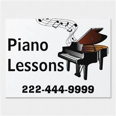 Piano Sign Lessons Yard Signs Gifts Zazzle