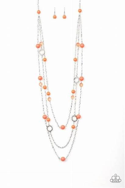Orange Necklace Paparazzi Earring Bliss Sets Jewelry