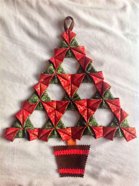folded fabric christmas tree a tutorial september