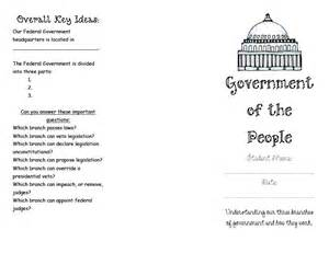 3 Branches of Government Worksheets for Kids