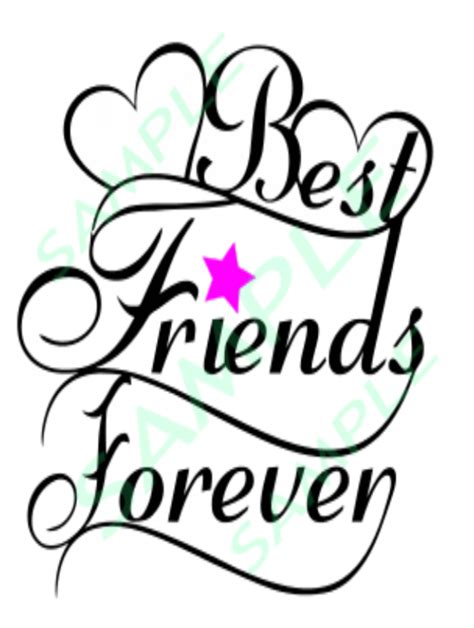 I've put together an awesome collection of my favorite svgs, designers, & crafters (including two martha stewart american made. Best Friend's Forever Saying Cut Files Silhouette Cricut ...