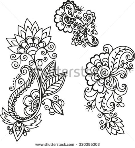 tribal hair design templates henna stock images royalty free images vectors