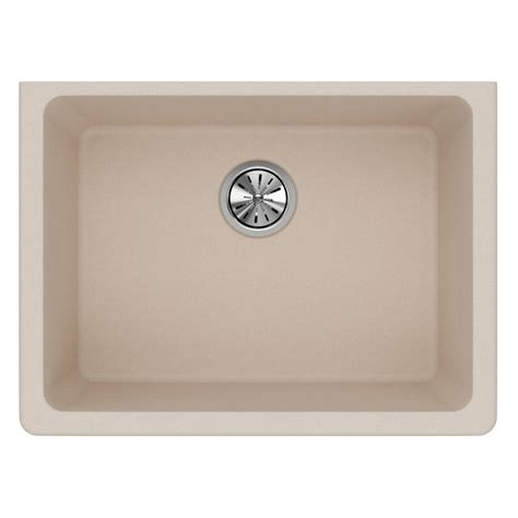 kitchen sink putty elkay quartz classic undermount composite 25 in single