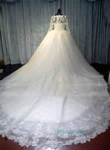sleeve gown wedding dress h1487 modest lace fairytale tulle wedding dress with sleeves