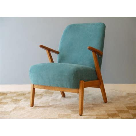fauteuil vintage annee 50 fauteuil vintage scandinave bleu design 50 la maison retro
