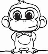 Gorilla Drawing Simple Getdrawings sketch template
