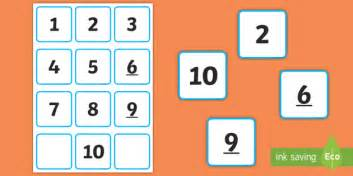 Small Number Cards 1 To 10 Number Cards
