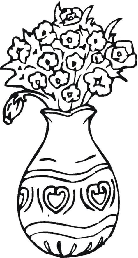 flower vase coloring vase coloring pages getcoloringpages