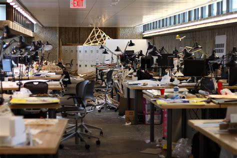 Filedesks Of Architecture Students In The Yale Art And