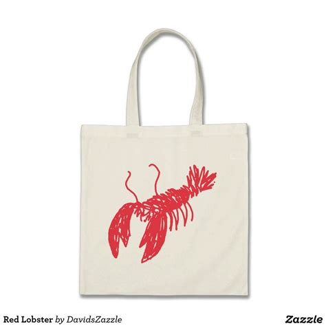 red lobster tote bag zazzlecom monogram tote bags canvas tote bags tote bag