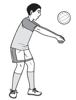 teknik dasar permainan bola voli lengkap  gambarnya info penjas orkes