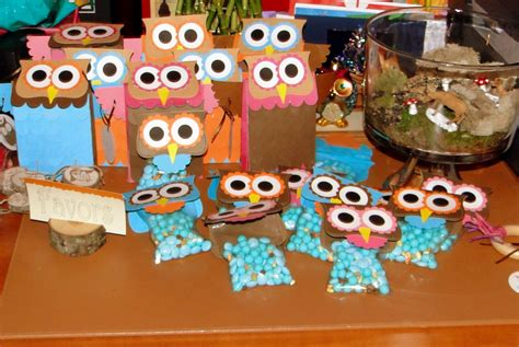 Owl Themed Party Bags And Gifts. Way Too Cute!