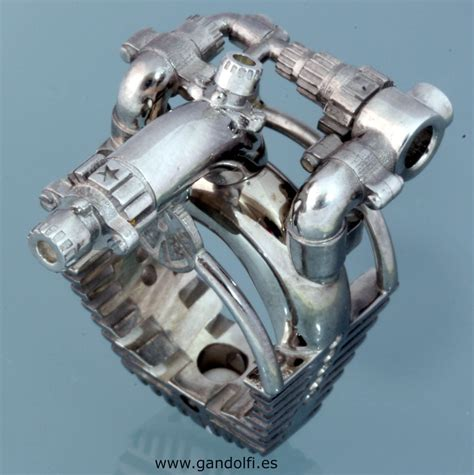 Sterling Silver Ring Motor V8 by Mikelm on DeviantArt