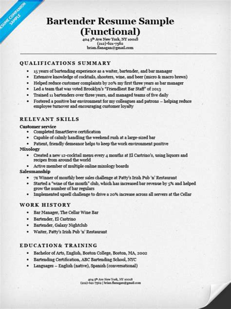 Functional Resume by Functional Resume Exles Writing Guide Resume Companion