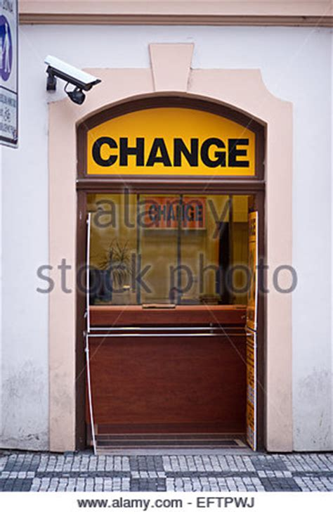sign outside currency exchange shop in stock photo royalty free image