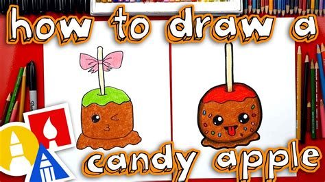 How To Draw A Candy Apple With Mrs Hubs - YouTube