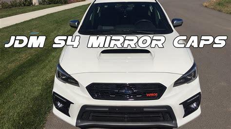 wrxsti jdm  satin mirror cover caps youtube