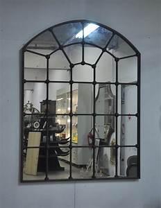 Grand Miroir Industriel : grand miroir atelier en m tal de style industriel 140x180 ~ Melissatoandfro.com Idées de Décoration