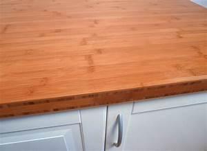Arbeitsplatte kuchenarbeitsplatte bambus horizontal for Bambus arbeitsplatte