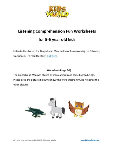 reading and listening comprehension worksheets the best