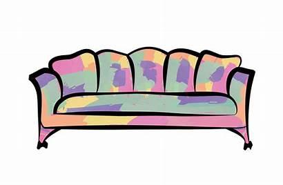 Sofa Couch Furniture Illustration Vector Interior Sign