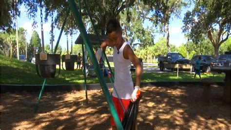 boy spends weekends cleaning hernando county parks