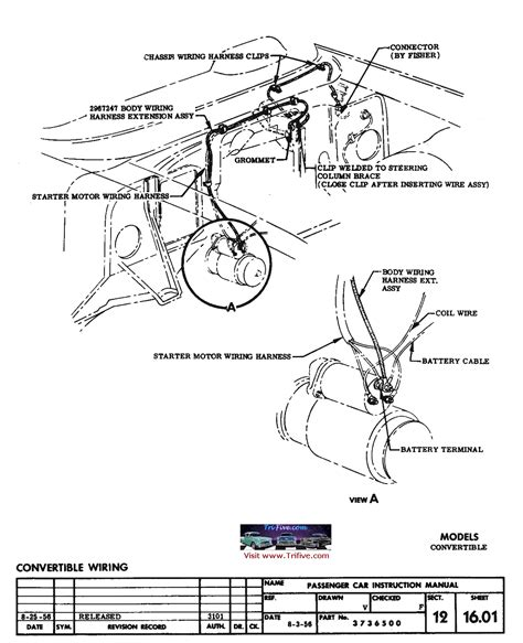 1956 Chevy Ignition Switch Wiring Diagram by 57 Convert Top Switch Wiring Diagram Trifive 1955