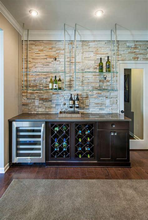 create  dynamic home bar  floating glass shelves